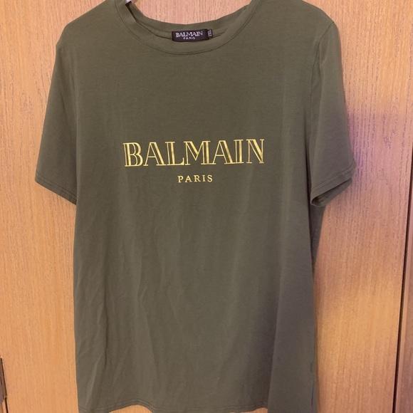 b6e6549d Balmain Shirts   Olive Green T Medium   Poshmark